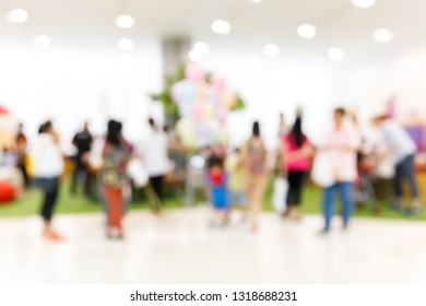 Abstract blur people in weekend casual lifestyle entertainment family party or activity, fun and happy festival celebration time concept