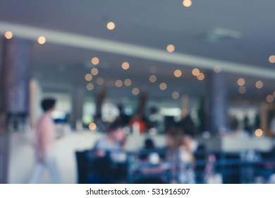 Abstract blur restaurant background - vintage filter