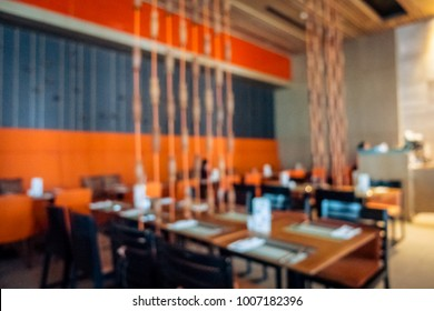 Abstract blur restaurant and coffee shop cafe interior for background - Vintage Filter
