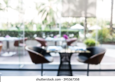 Abstract blur restaurant interior for background
