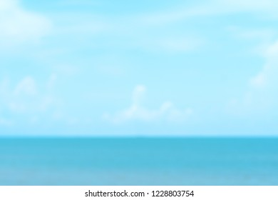 Abstract blur sea and blue sky background