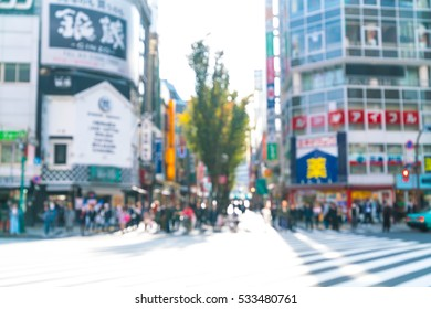 abstract blur at Shinjuku in Tokyo City, Japan