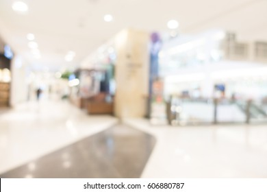 Abstract blur shopping mall and department store interior for background