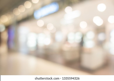 Abstract blur shopping mall interior of department store for background