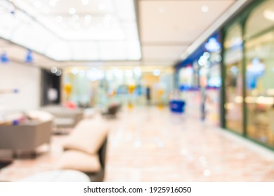 Abstract blur shopping mall and retail in department store for background