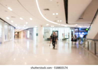 Abstract blur shopping mall and retails store interior for background