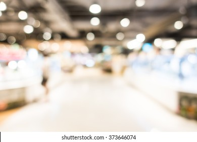 Abstract blur shopping mall store interior for background