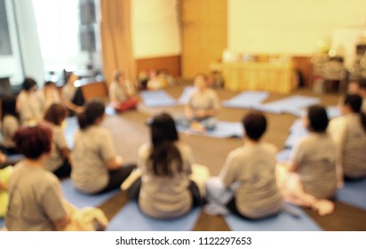 abstract blur shot of goya class in sitting position for background