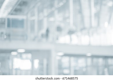 Abstract blur Structure of airport station interior for Design your work about Modern  Technology ore Future background , Mood and tone like luxury or beautiful