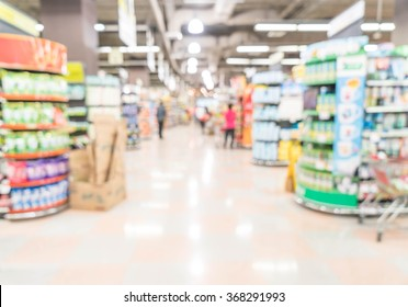 abstract blur in supermarket