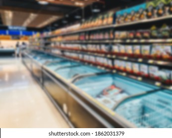 Abstract blur supermarket and retail store with background concept