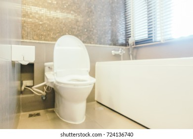 Abstract blur toilet interior for background