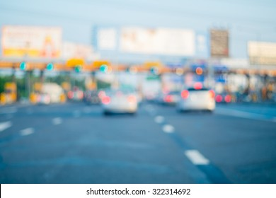 Abstract blur tollway payment gate - vintage effect