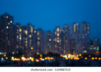 Abstract blur twilight night cityscape background