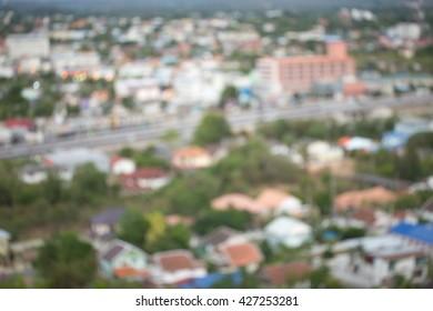 abstract blur village in Thailand