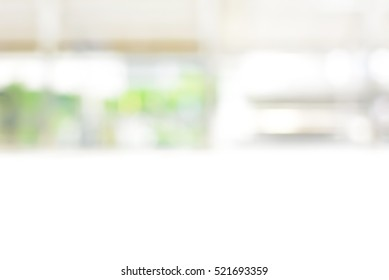 Abstract blur white background from  kitchen window