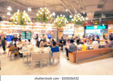 Abstract blured of food court in department store.