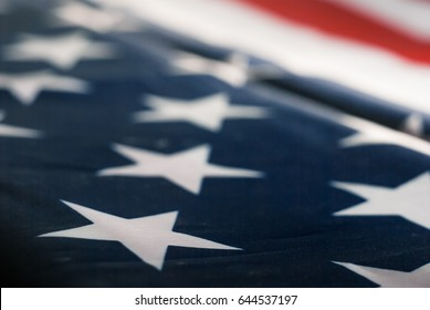 abstract blurred background of the American flag,