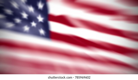 abstract blurred background of the American flag