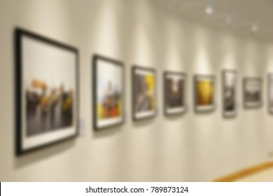 Abstract blurred Background of Art Gallery