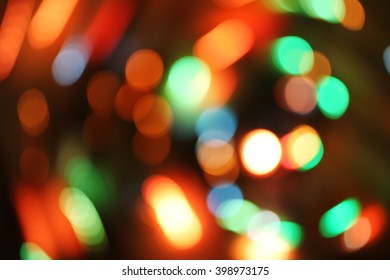 Abstract blurred background with bokeh defocused lights and shadow
