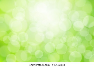 abstract blurred background bokeh nature with sunlight.