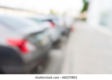 Abstract blurred background of car in parking lot