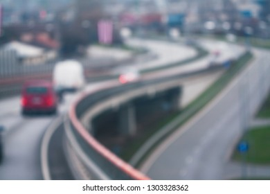 abstract blurred background of a city road