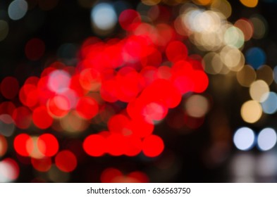 abstract blurred background of colorful light bokeh effect for background.