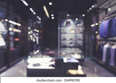 abstract blurred background of men fashion store