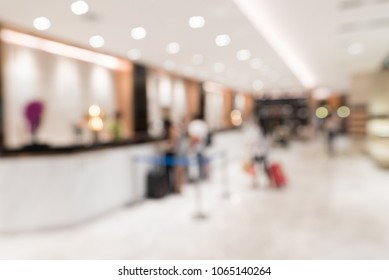 Abstract Blurred background of modern hotel lobby
