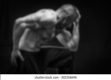Abstract blurred background on the topic of sports and bodybuilding
