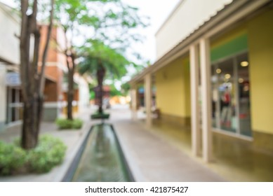 Abstract blurred background outdoor shopping mall