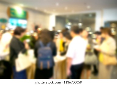 abstract blurred background people group in seminar
