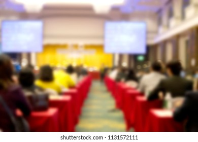 abstract blurred background people seminar in the conference room