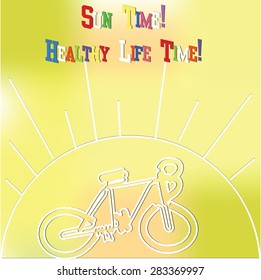 abstract blurred background sun summer vacation bicycle health