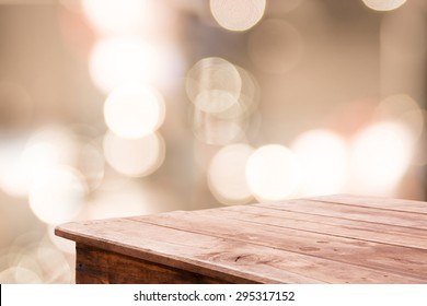 Abstract blurred background and wooden floor