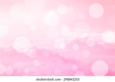 Abstract blurred bokeh background of sky