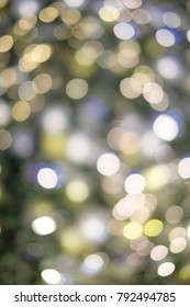abstract blurred bokeh light for background