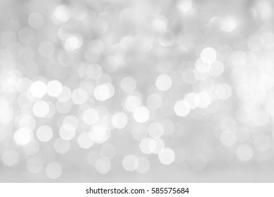 abstract blurred of bokeh light in black and white background gray abstract bokeh background
