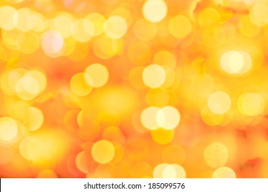 Abstract blurred bokeh  yellow background