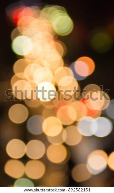 Abstract blurred colorful Bokeh, Abstract background colorful Bokeh at Night Traffic in Bangkok, Thailand.