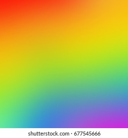 Abstract blurred colorful gradient with Rainbow set colors
