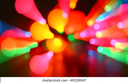 Abstract blurred colorful night light backgrounds.