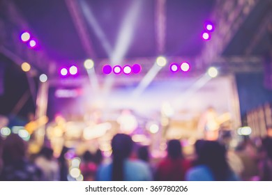 Abstract blurred concert lighting bokeh for background