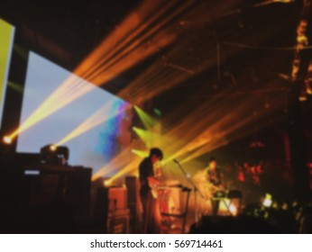 Abstract blurred .concert in small club.