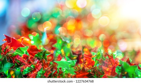 Abstract blurred, defocused bokeh light for Christmas and Happy New Years celebration and other. abstract background for backdrop and presentation.