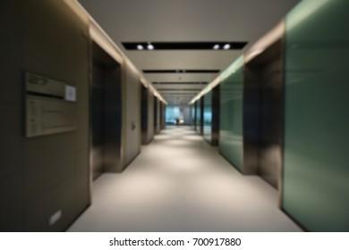 Abstract blurred elevator gate door interior in modern office