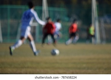 Abstract blurred Football, Soccer concept.