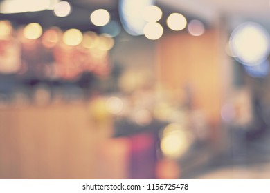 Abstract blurred furniture home decor expo - blur background concept vintage tone